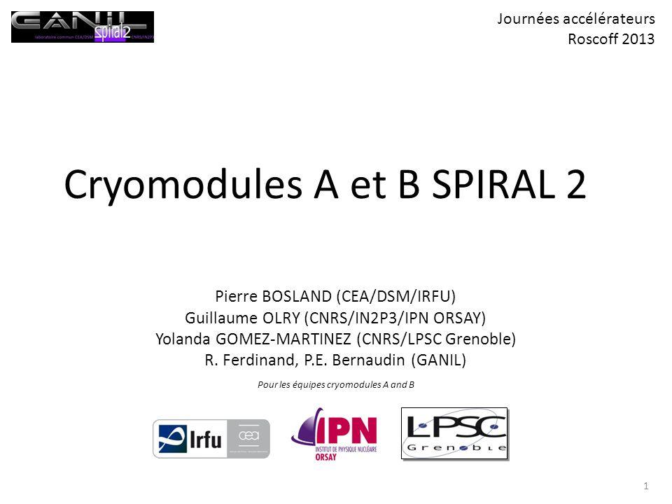 Cryomodules A et B SPIRAL 2
