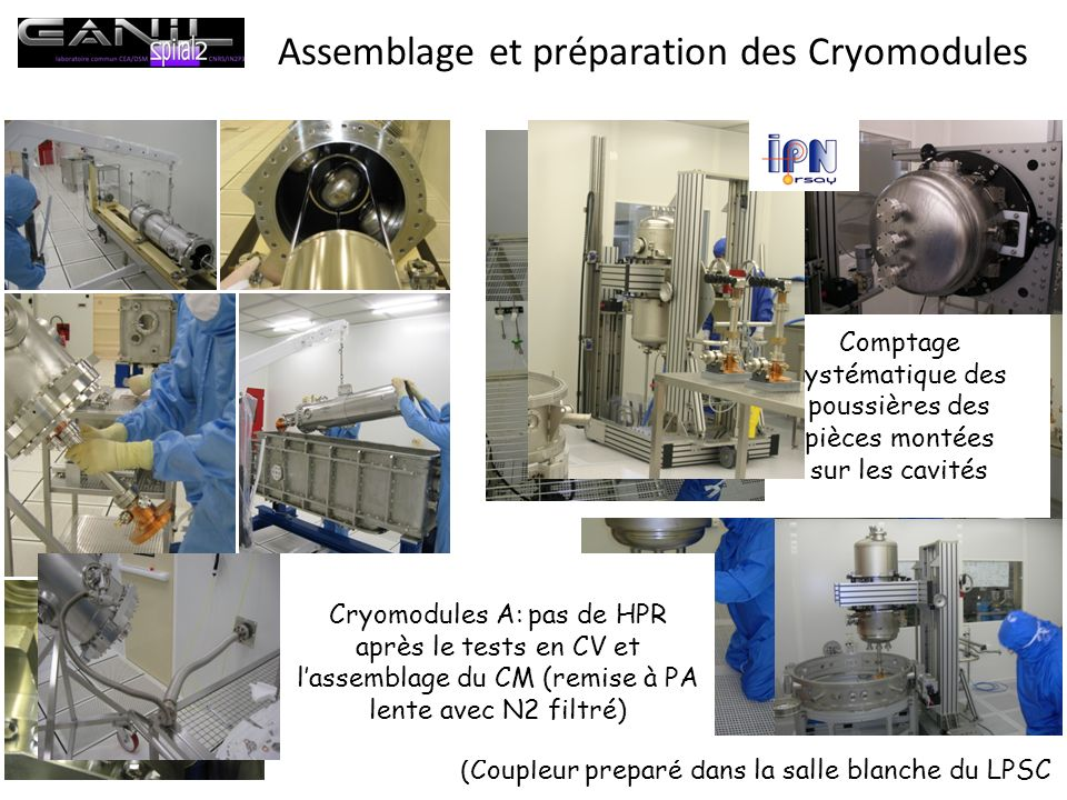 Assemblage et préparation des Cryomodules