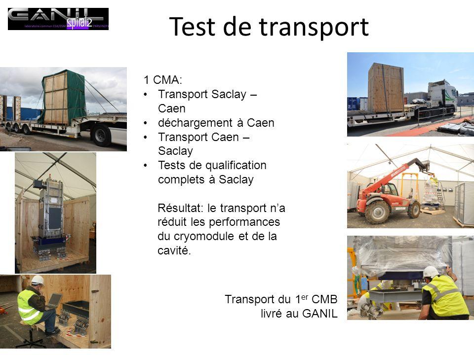 Test de transport 1 CMA: Transport Saclay – Caen déchargement à Caen