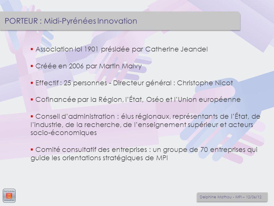 PORTEUR : Midi-Pyrénées Innovation