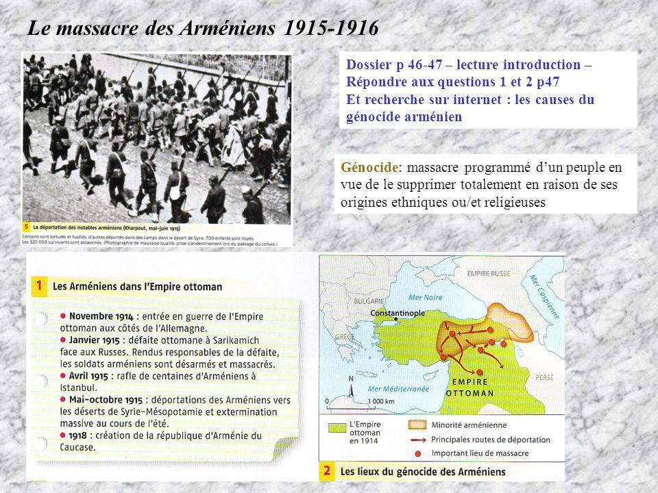Le massacre des Arméniens 1915-1916