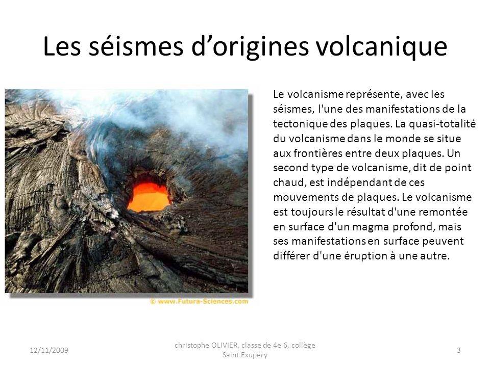 Les séismes d'origines volcanique