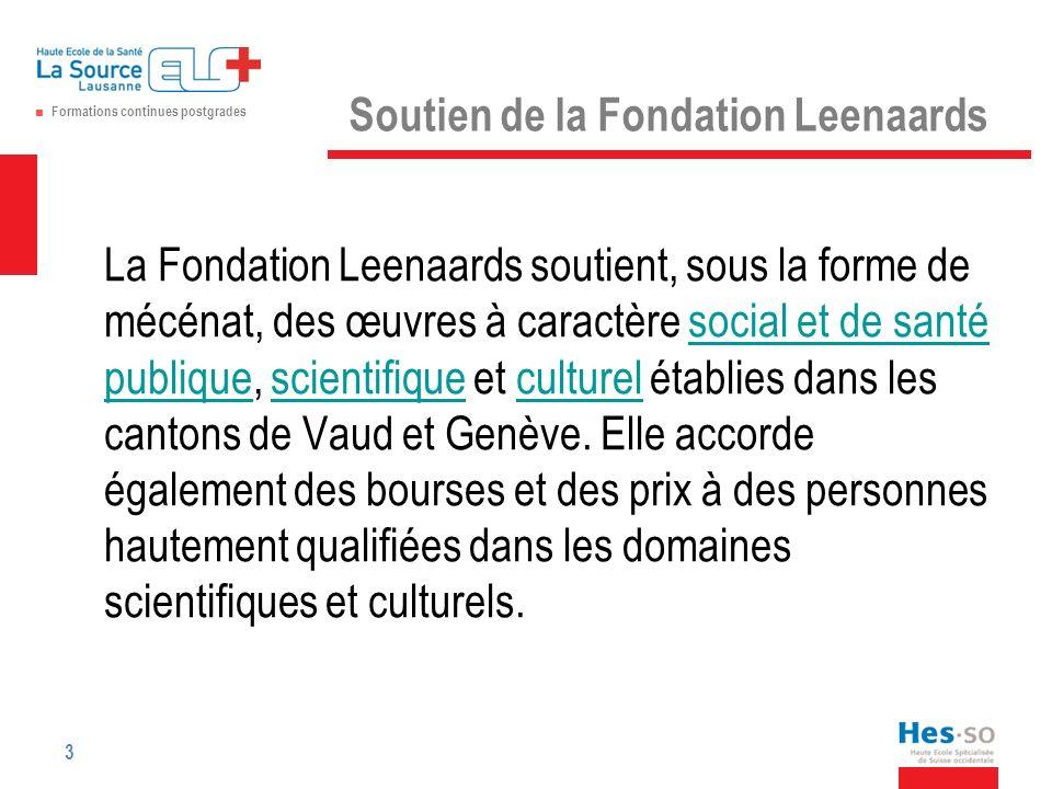 Soutien de la Fondation Leenaards