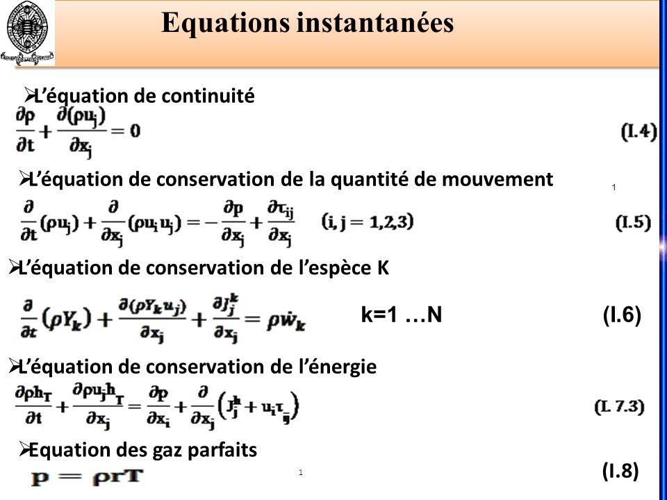 Equations instantanées
