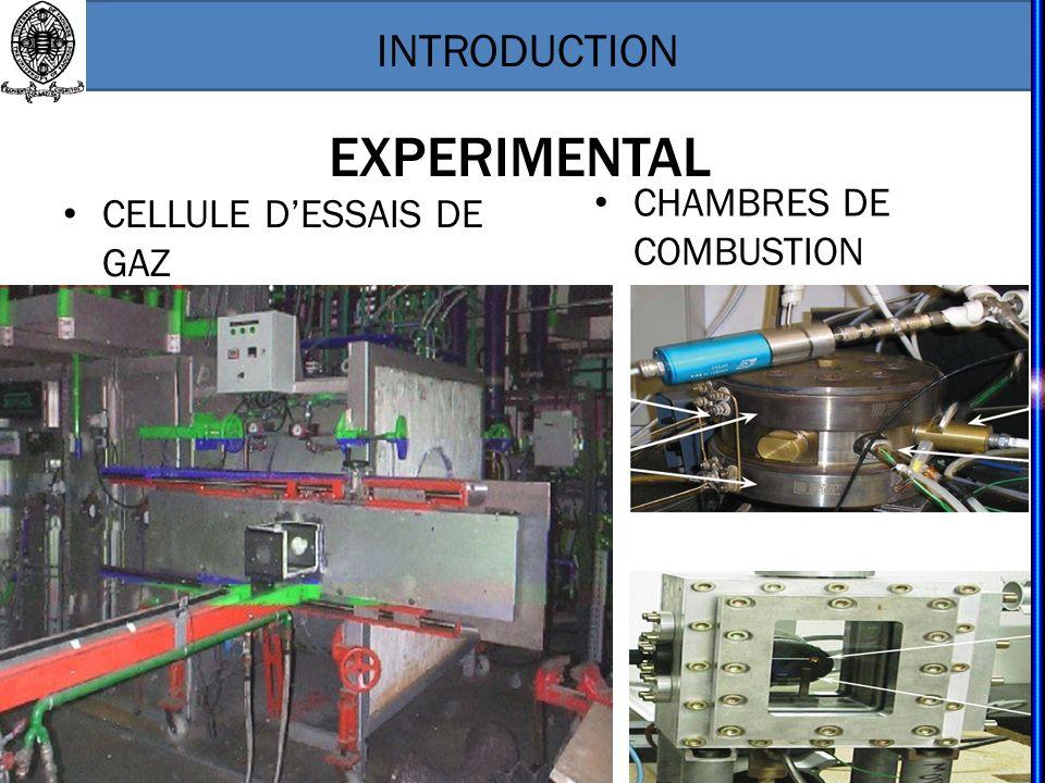 EXPERIMENTAL CHAMBRES DE COMBUSTION CELLULE D'ESSAIS DE GAZ