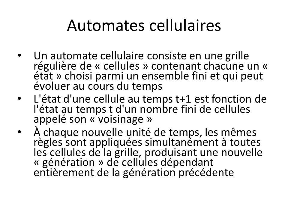 Automates cellulaires