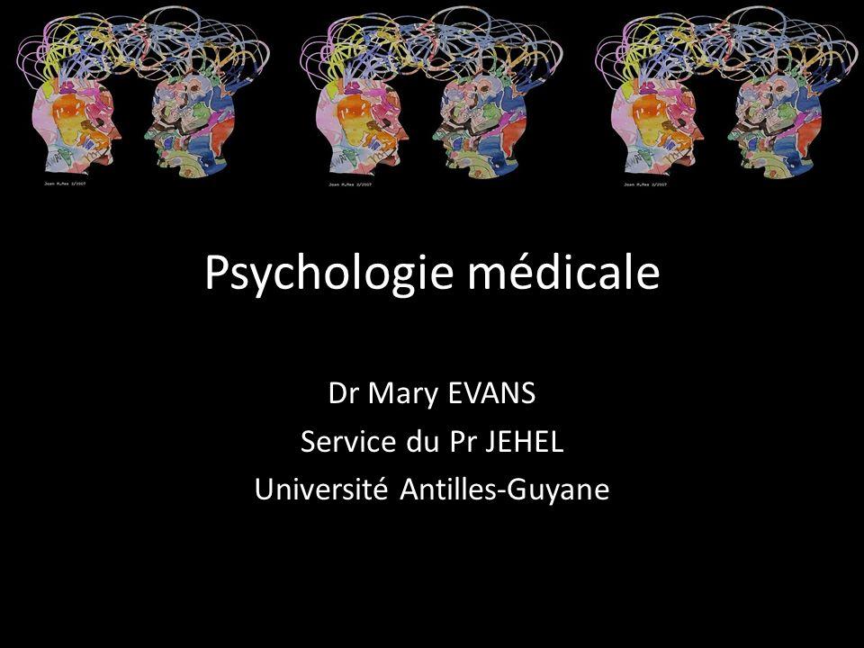 Dr Mary EVANS Service du Pr JEHEL Université Antilles-Guyane