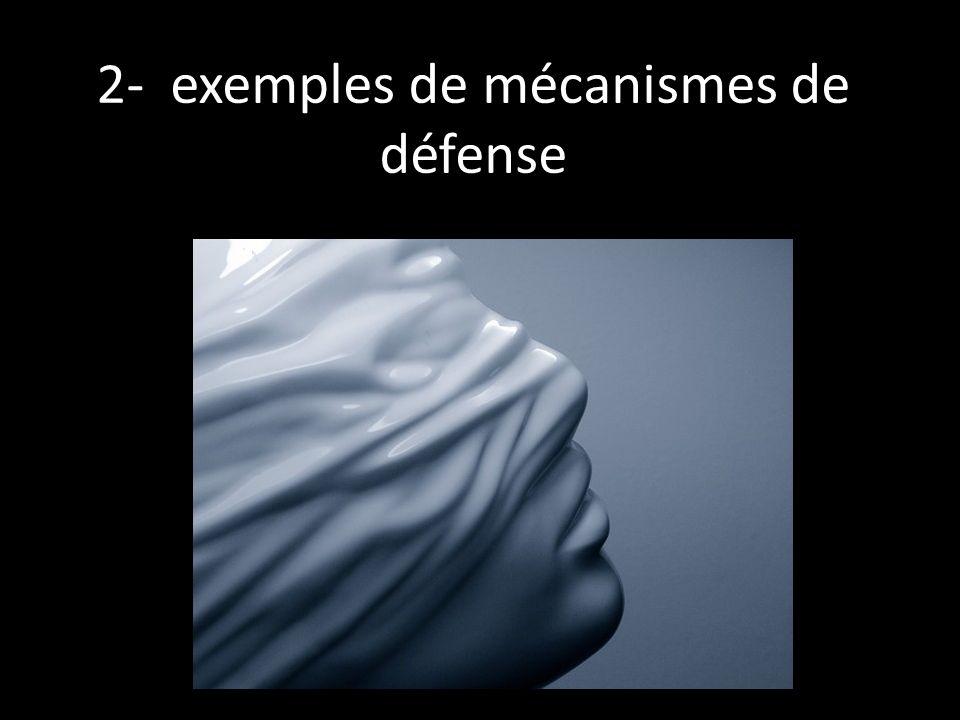 2- exemples de mécanismes de défense