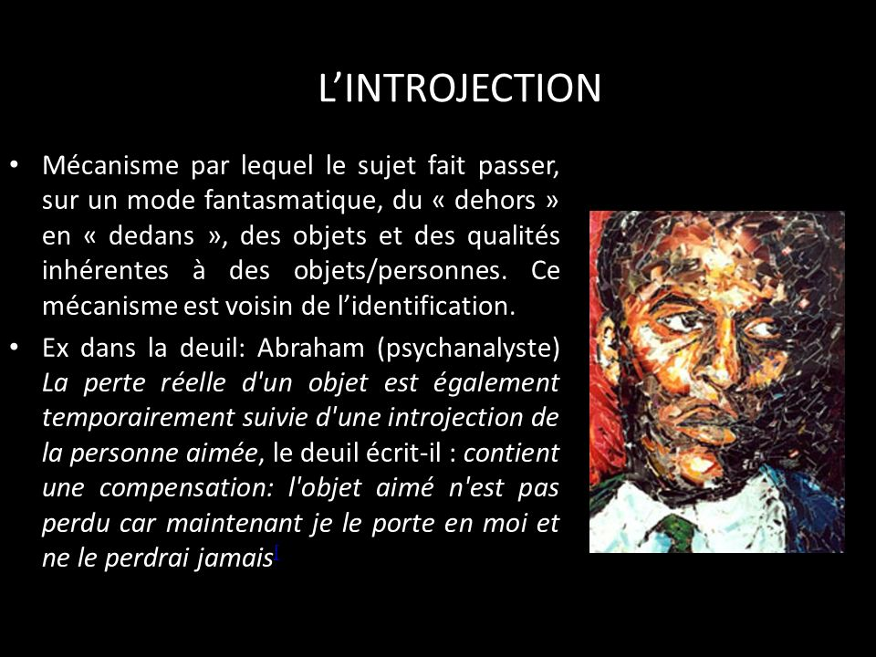 L'INTROJECTION