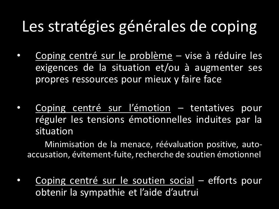 Les stratégies générales de coping