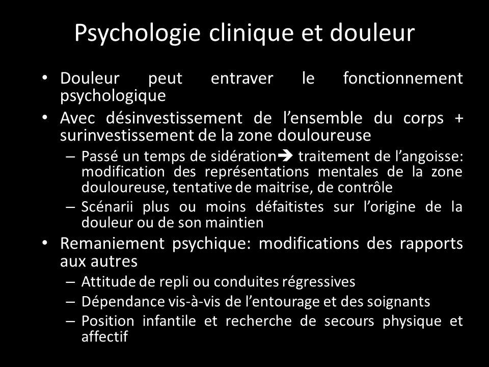 Psychologie clinique et douleur