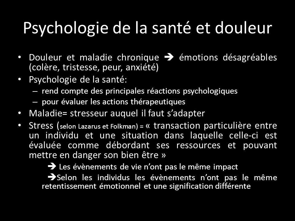 Psychologie de la santé et douleur