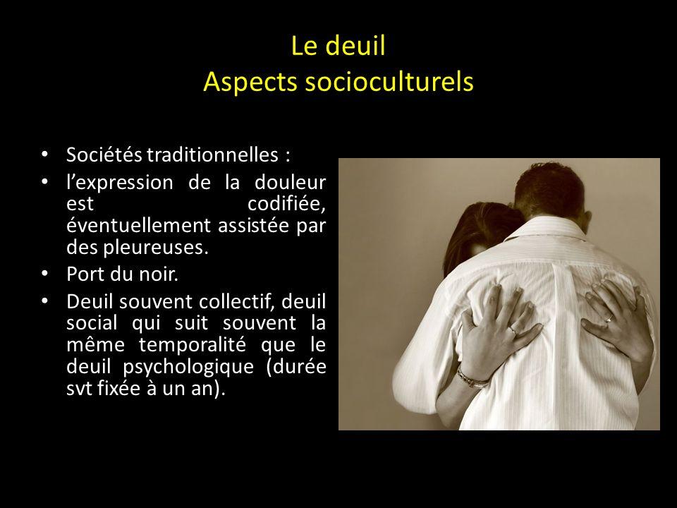 Le deuil Aspects socioculturels