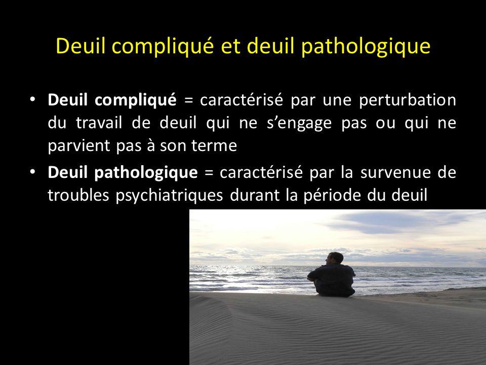 Deuil compliqué et deuil pathologique