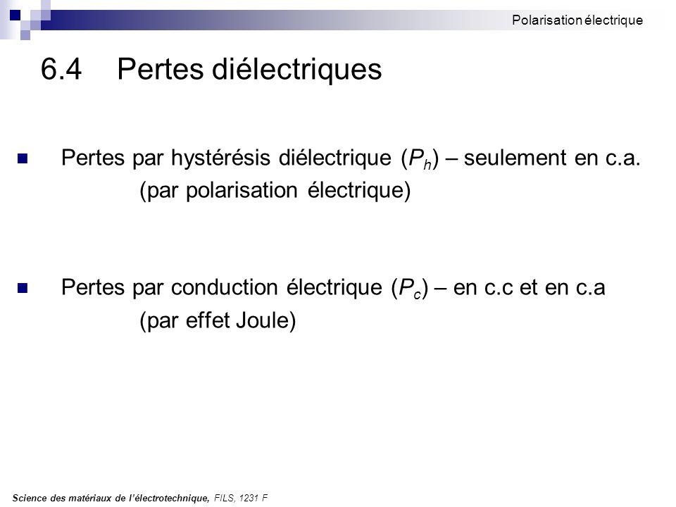 Polarisation électrique