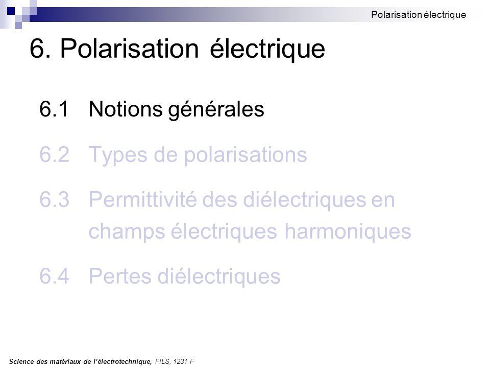 6. Polarisation électrique