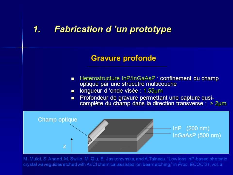 Fabrication d 'un prototype