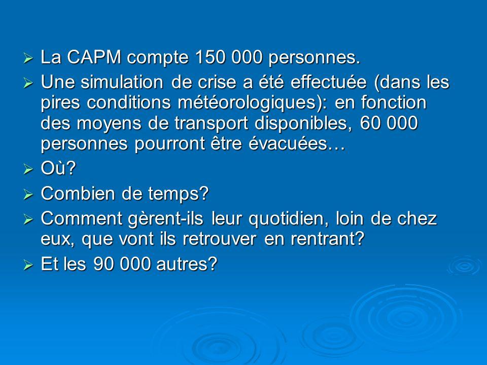 La CAPM compte 150 000 personnes.