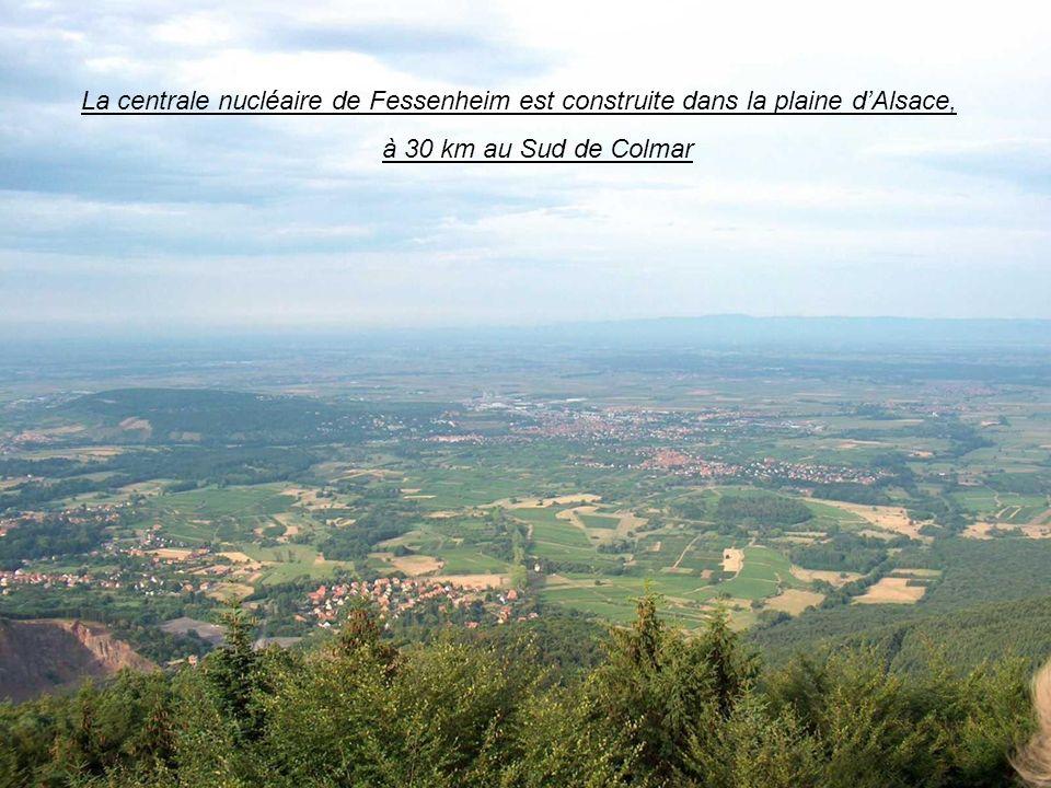 La centrale nucléaire de Fessenheim est construite dans la plaine d'Alsace,