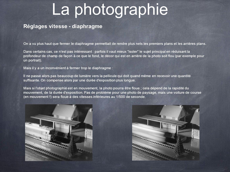 La photographie Réglages vitesse - diaphragme