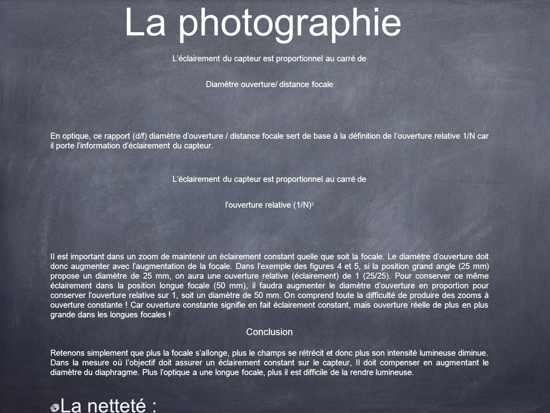 La photographie La netteté : Conclusion