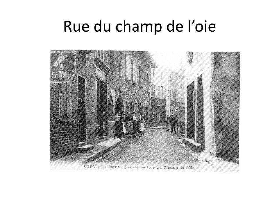 Rue du champ de l'oie