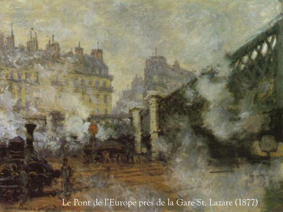 Le Pont de l'Europe près de la Gare St. Lazare (1877)