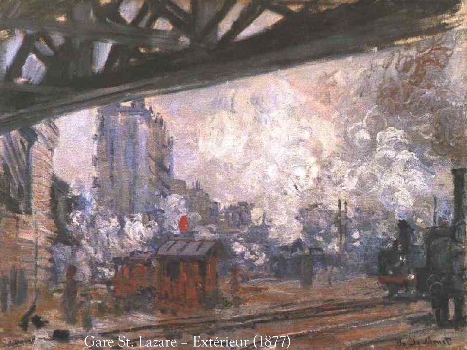 Gare St. Lazare – Extérieur (1877)
