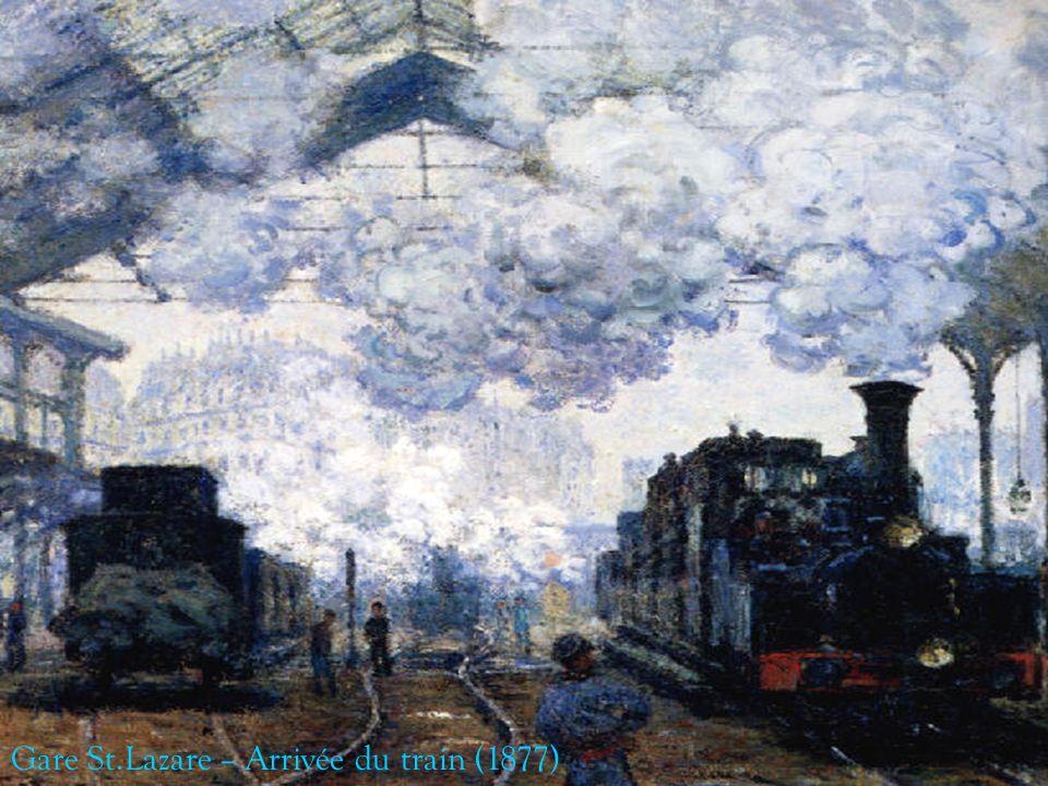 Gare St.Lazare – Arrivée du train (1877)