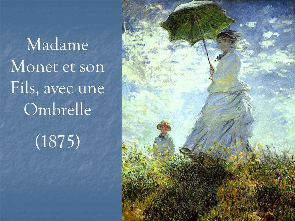 Madame Monet et son Fils, avec une Ombrelle