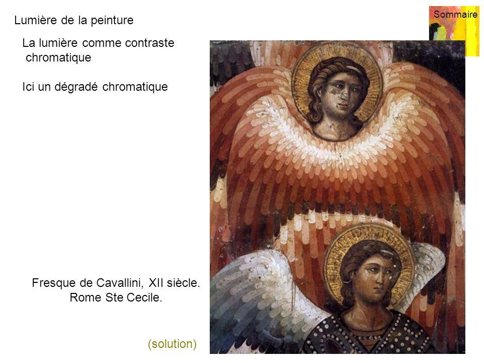 Fresque de Cavallini, XII siècle. Rome Ste Cecile.