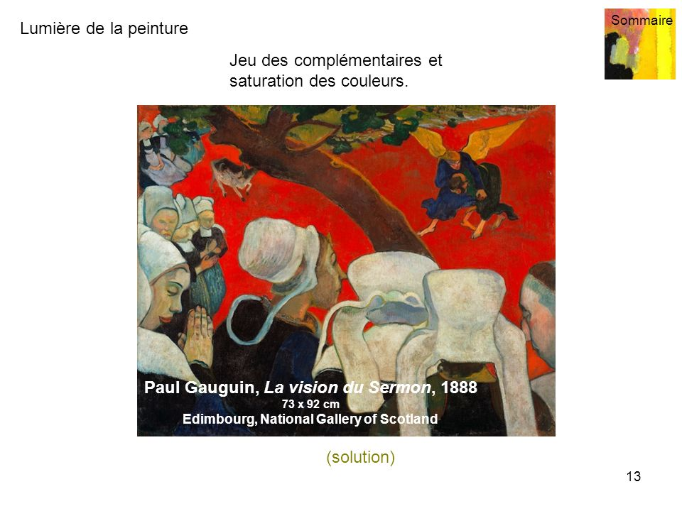 Paul Gauguin, La vision du Sermon, 1888