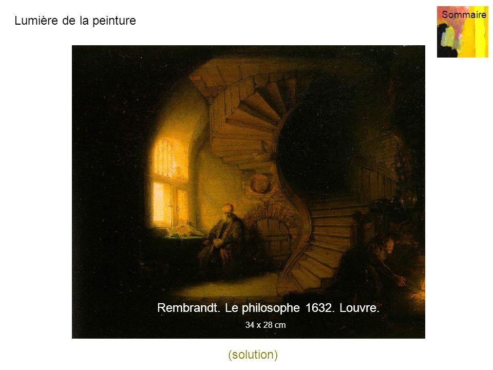 Rembrandt. Le philosophe 1632. Louvre.