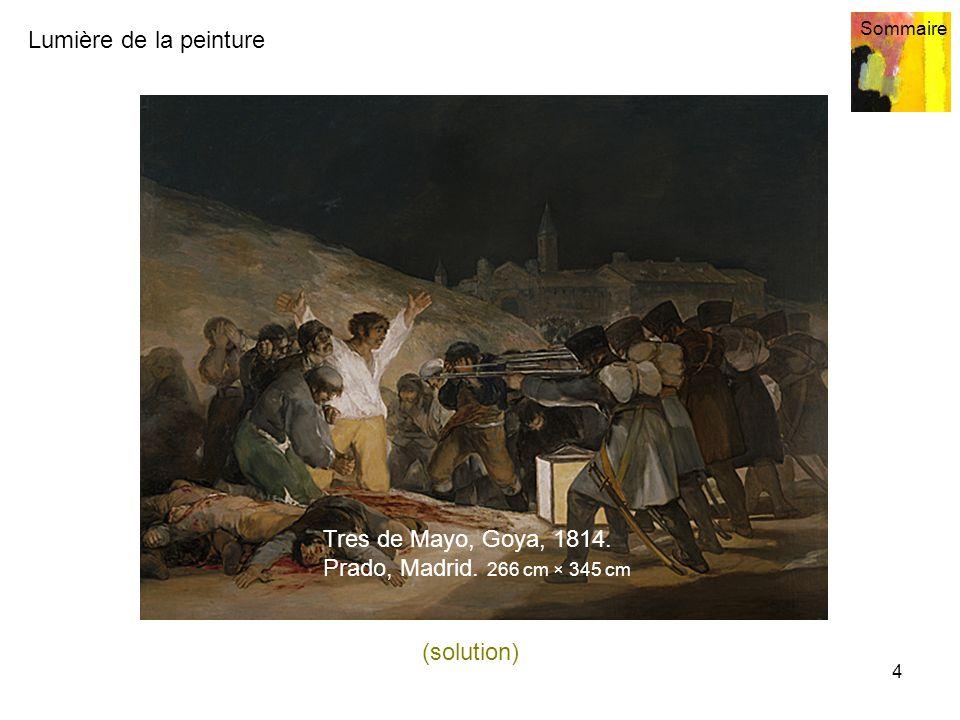 Tres de Mayo, Goya, 1814. Prado, Madrid. 266 cm × 345 cm