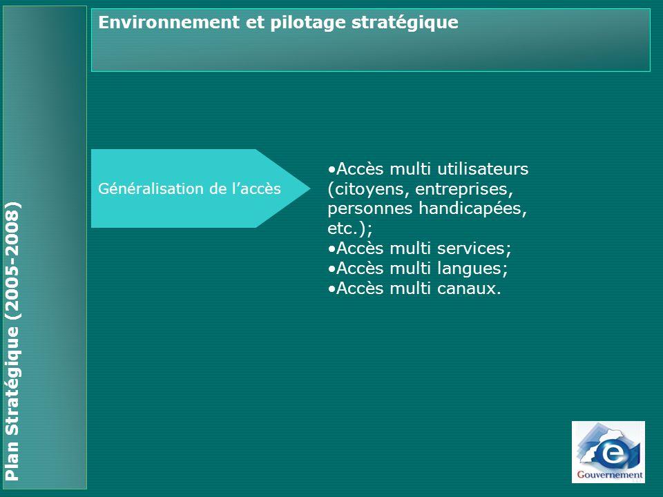 Environnement et pilotage stratégique