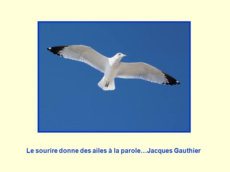 Le sourire donne des ailes à la parole…Jacques Gauthier