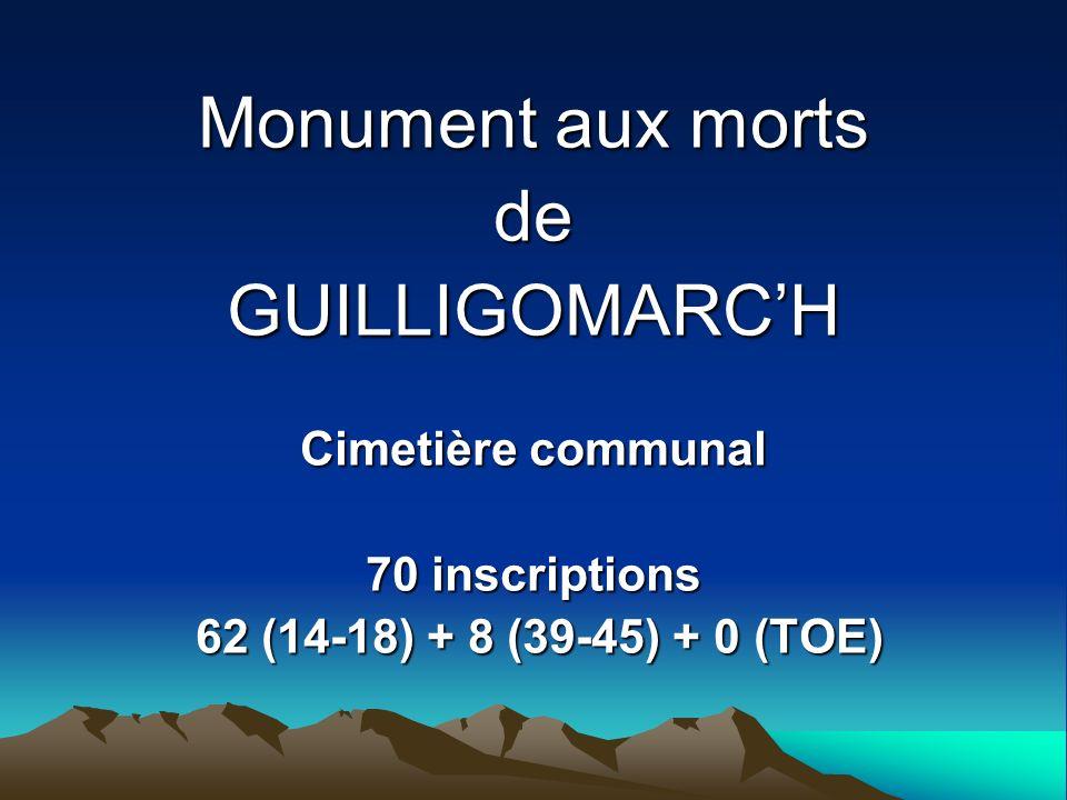 Monument aux morts de GUILLIGOMARC'H Cimetière communal