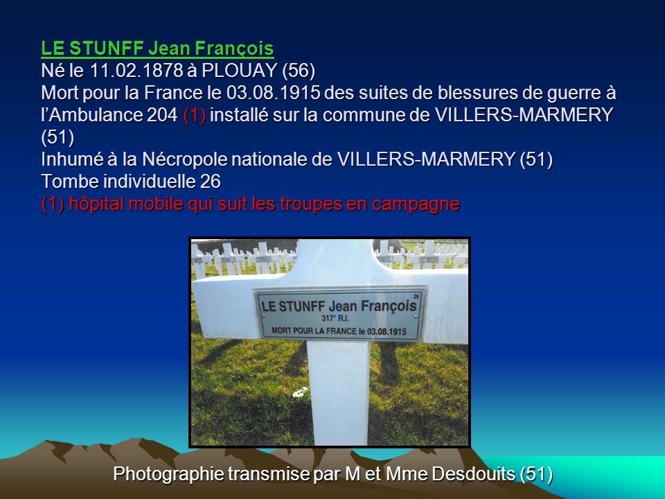 Photographie transmise par M et Mme Desdouits (51)