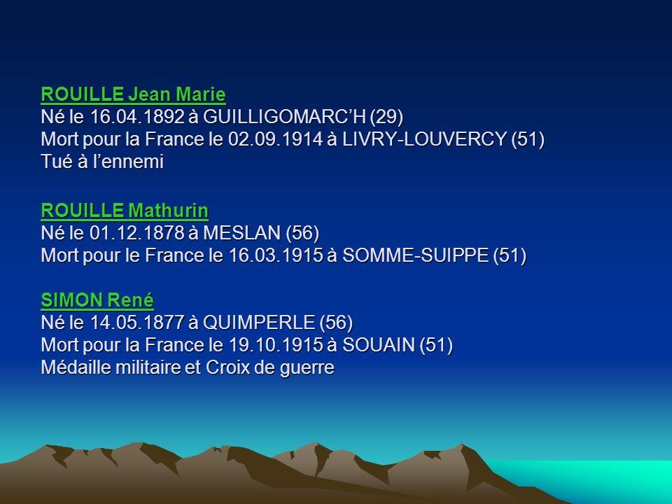 ROUILLE Jean Marie Né le 16. 04