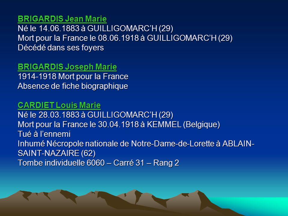 BRIGARDIS Jean Marie Né le 14. 06