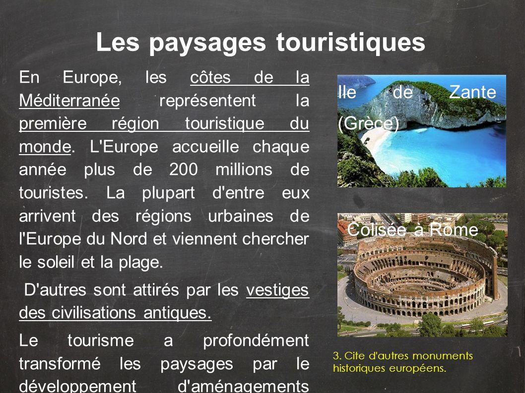Les paysages touristiques