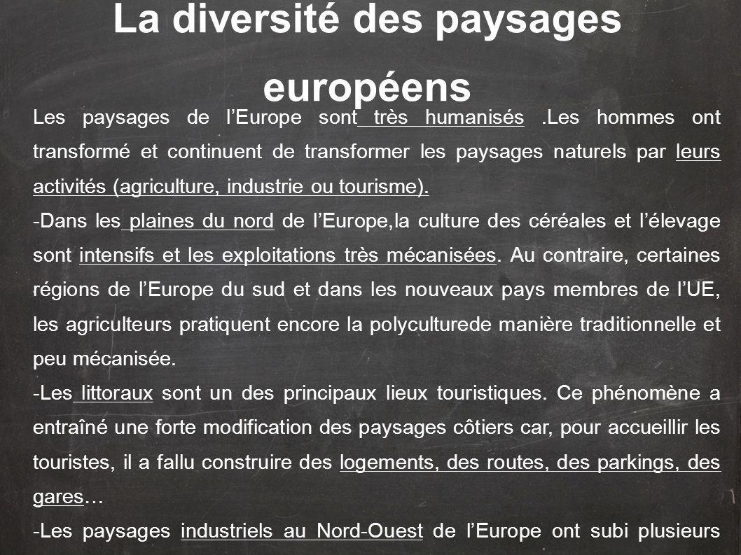 La diversité des paysages européens