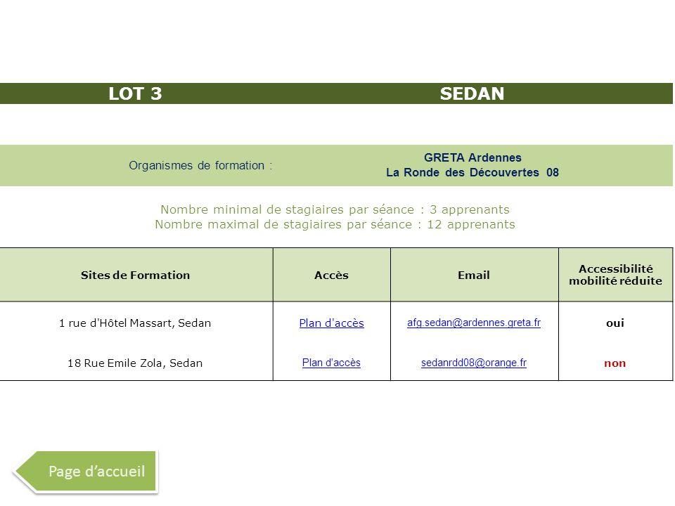 LOT 3 SEDAN Page d'accueil GRETA Ardennes La Ronde des Découvertes 08