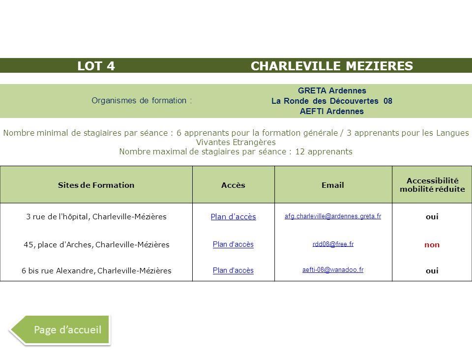 LOT 4 CHARLEVILLE MEZIERES