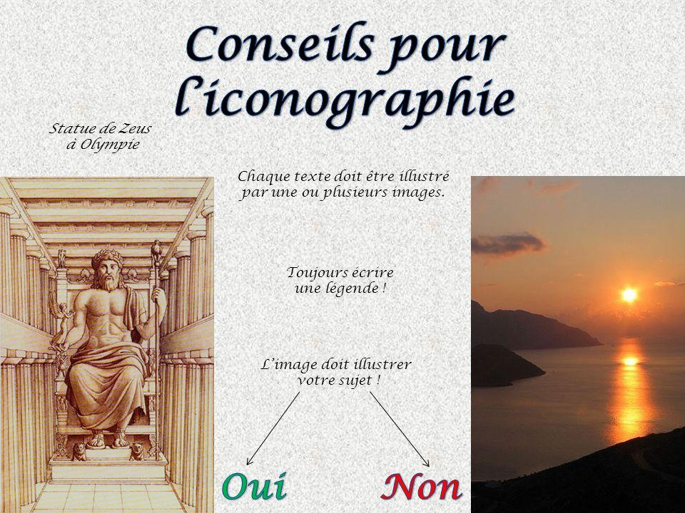 Conseils pour l'iconographie