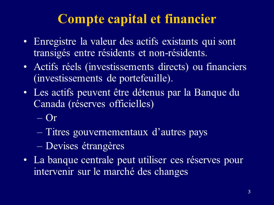Compte capital et financier