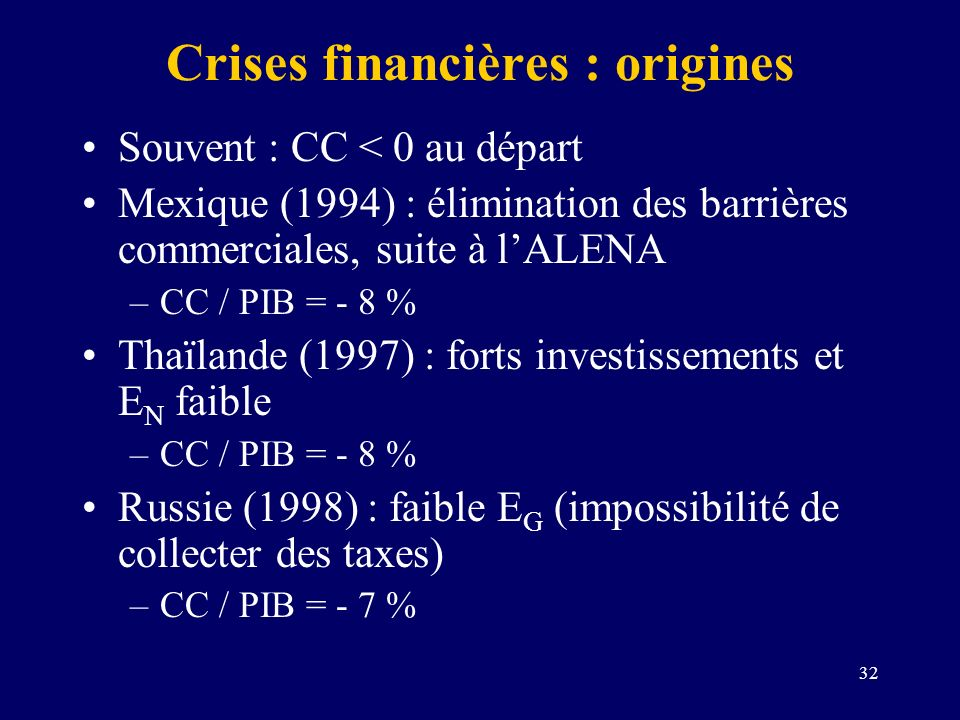 Crises financières : origines