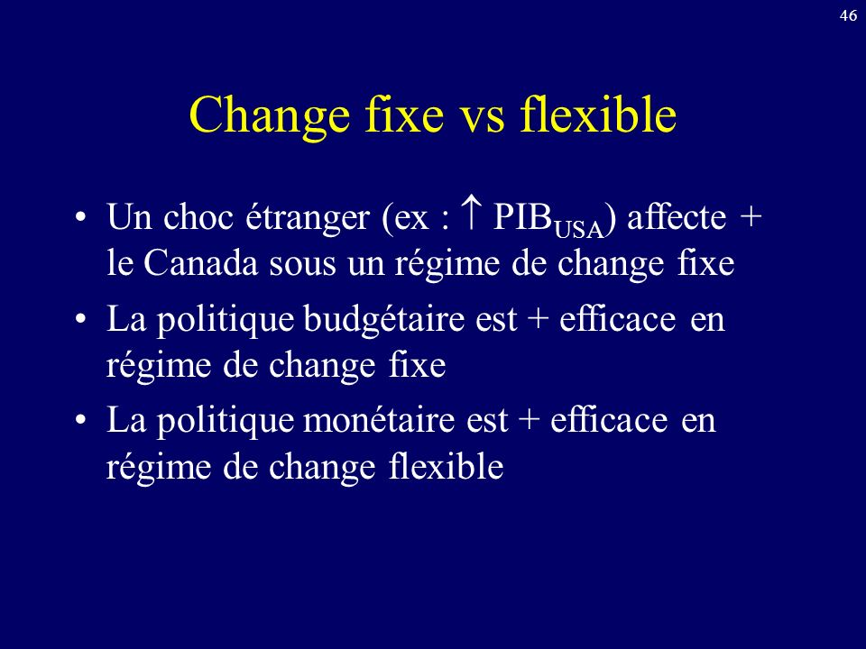 Change fixe vs flexible