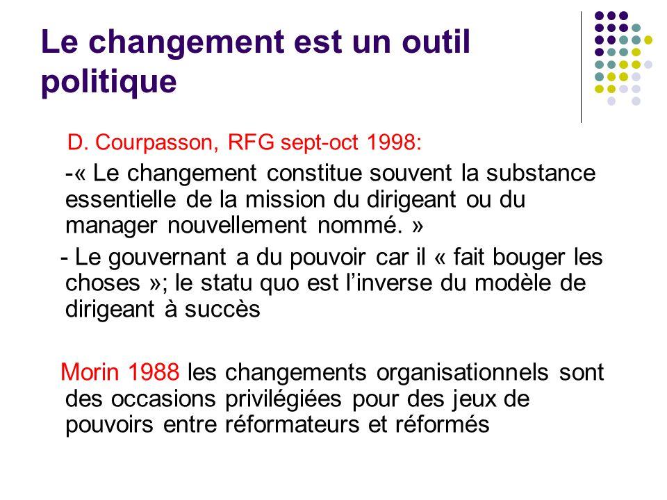 Le changement est un outil politique