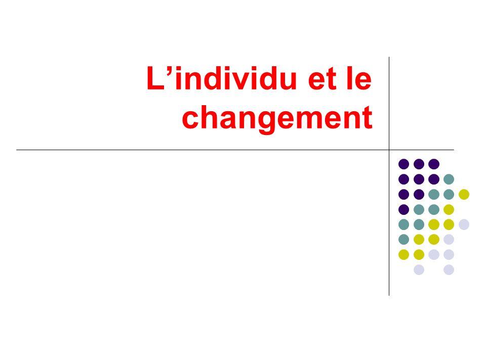 L'individu et le changement